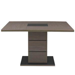 TABLE À MANGER SEULE Table de repas carrée Chêne cérusé - HANNY - L 130