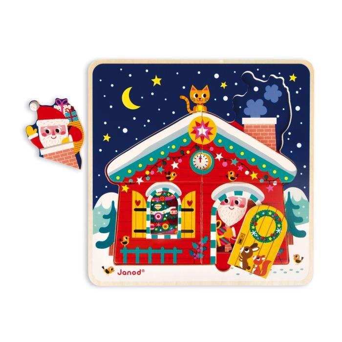 JANOD Puzzle 3 niveaux ''La nuit de Noël''