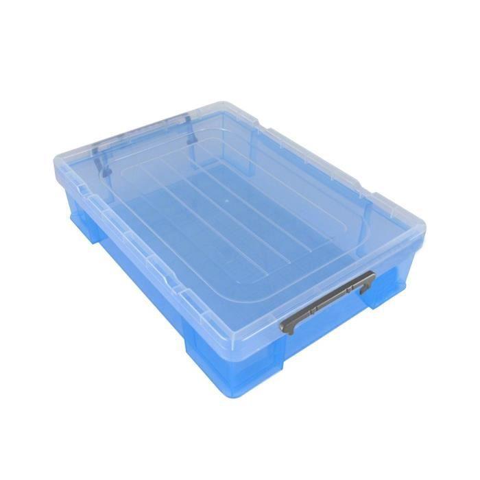 PIERRE HENRY Boîte de rangement - en Polypropylène translucide - 5,9 L - Bleu