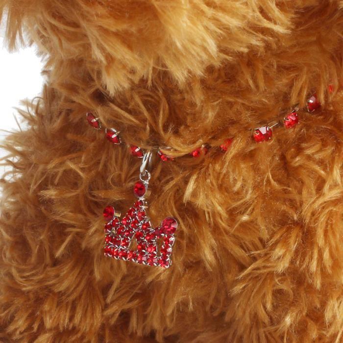 Amour@ Diamante Couronne Strass Pendentif Collier Pour Chien Bijoux Rd - S_139