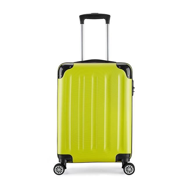 Valise cabine taille 55cm Trolley ABS ultra leger 4 roues 6 couleurs 40L(Blue) 70mmG