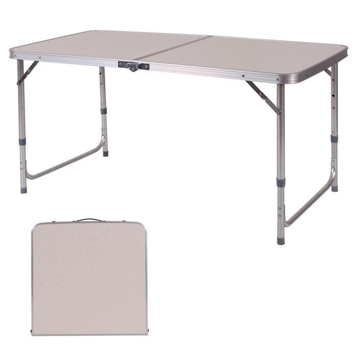 Table Camping Table De Jardin Pliable Tables A Tapisser Hauteur