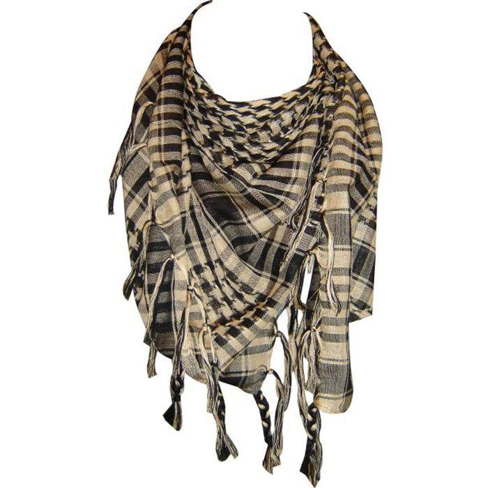 Keffieh palestinien beige noir - Achat   Vente echarpe - foulard ... b3f0cedb94b