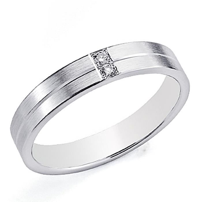 Alliance 4mm or blanc 18 carats. Lumineux 2 [8078]