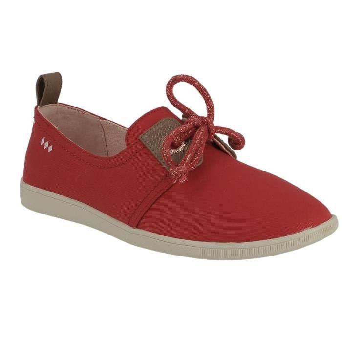 Basket dames Armistice stone 1 w en toile rouge.