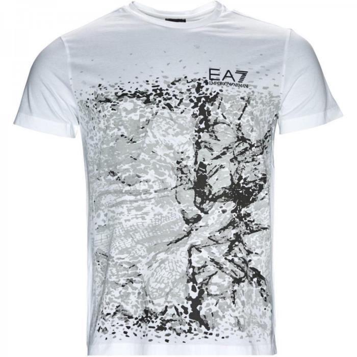 T-shirt EA7 Train Graphic Serie Blanc Blanc - Achat   Vente t-shirt ... 92cfc533cae