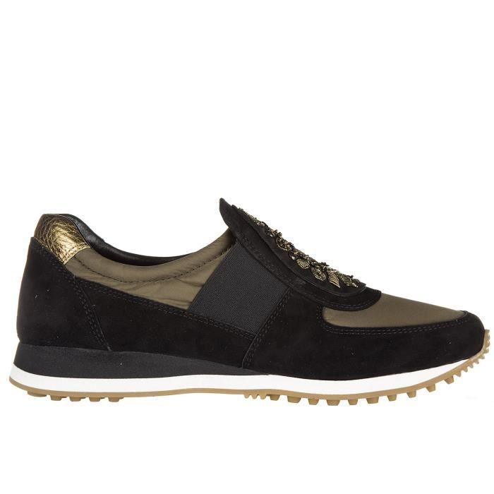 Slip on femme en daim sneakers Car Shoe