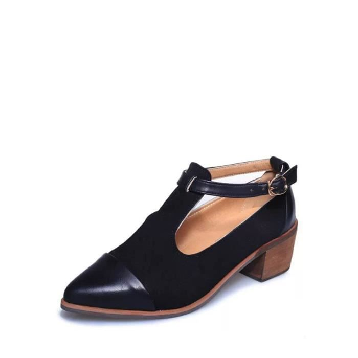 Place des femmes Toes Sandales Elegance solide épais talon élégant Chaussures Comfy 5444916 B06d1Ky