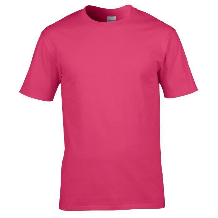 T-shirt à manches courtes Gildan pour homme Rose Rose - Achat ... 8f4499c3892f