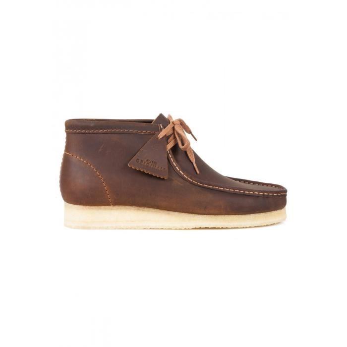 Boot Clarks wallabee Boot - 26134196 Marron Marron - Achat   Vente ... c37c2d04fda0
