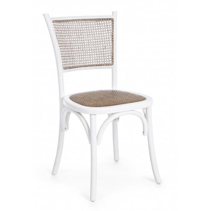 DimL P Chaise En Bois X 89 Blanc D'orme H Cm Coloris 45 42 mPy80vNnOw