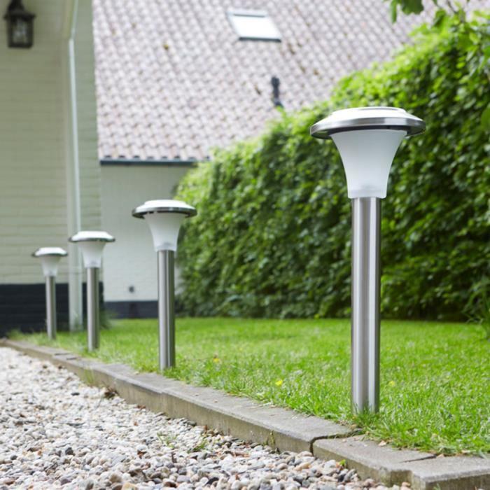 Éclairage d\'allées Lampe LED solaire de jardin \