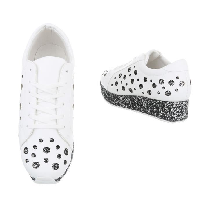 Chaussures femme chaussures sportSneakers blanc argent 39
