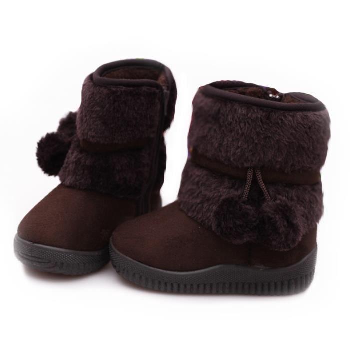 Enfants Bottes Garçon Chaussures xz095marron32 Cht En Filles Hiver Peluche Bottines AfxpOq55w