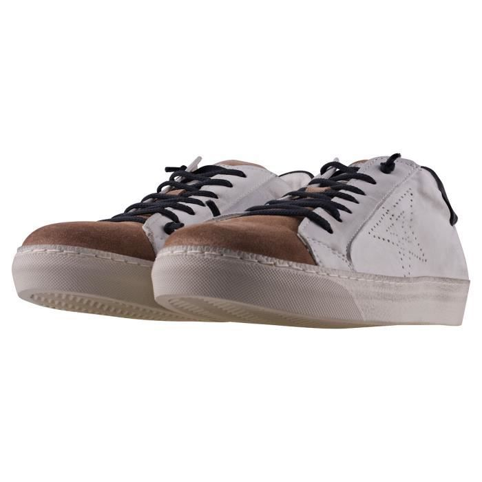 Mustang Sporty Casual Lace-up Hommes Baskets Brown Blanc - 41 EU
