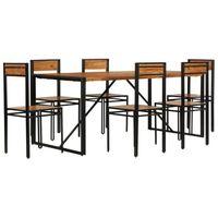SALLE À MANGER  Mobilier à dîner 7 pcs - 1 table et 6 chaises Bois