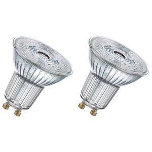 OSRAM Lot de 2 Ampoules spot LED PAR16 GU10 4,6 W équivalent ? 50 W blanc chaud dimmable