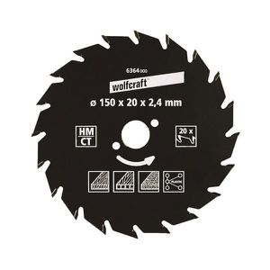 WOLFCRAFT Lame scie circulaire CT - 22 dents - ? 180 x 20 mm