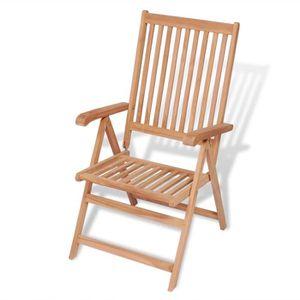 CHAISE Chaise Inclinable De Jardin Bois Teck