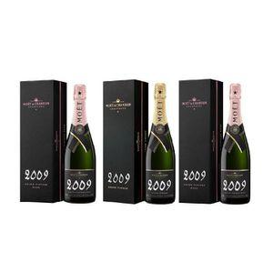 CHAMPAGNE Lot de 3 Bouteilles 0.75 Moët et Chandon Grand Vin