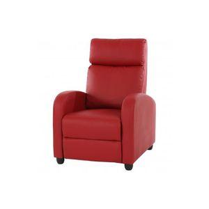 Fauteuil de relaxation rouge achat vente fauteuil de relaxation rouge pas - Fauteuil relax cuir rouge ...