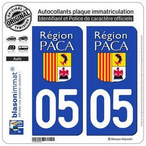 PLAQUE IMMATRICULATION 2 Autocollants plaque immatriculation Auto 05 PACA