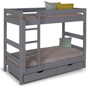 lit superpose avec matelas achat vente pas cher