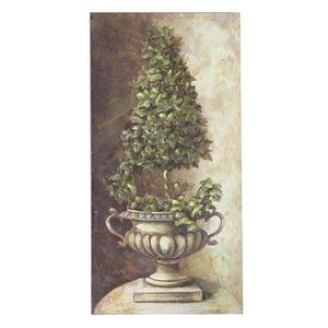 TABLEAU - TOILE Tableau Cadre en Bois Peint Buis Vasque Médicis 85