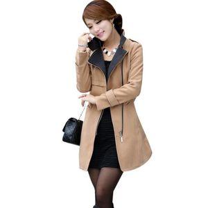 Manteau laine femme blanc