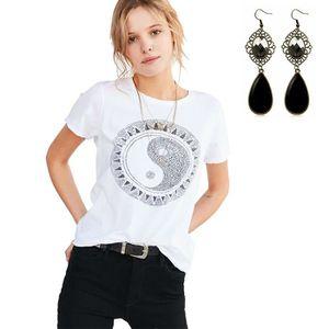 T-SHIRT T-shirt Femme Été Casuel Géométrique Impression Te