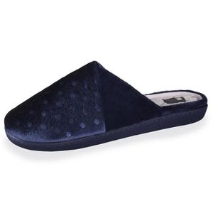 CHAUSSON - PANTOUFLE Chaussons femme Well plumetis - Bleu - 91019-AAH-3
