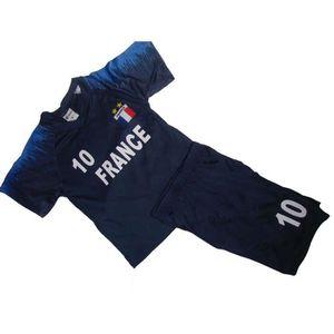 MAILLOT DE FOOTBALL Maillot de foot FRANCE 2 étoiles n° 10 short ENFAN