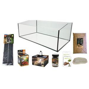 VIVARIUM - TERRARIUM Kit Tortues Terrestres Complet - Bac Ouvert 120 XL