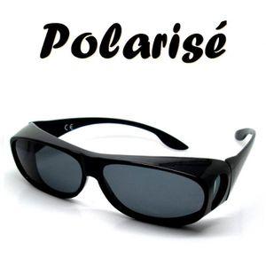 60318cf88ca11 LUNETTES SOLEIL POLARISE DESSUS DES LUNETTES VUE Noir - Achat ...