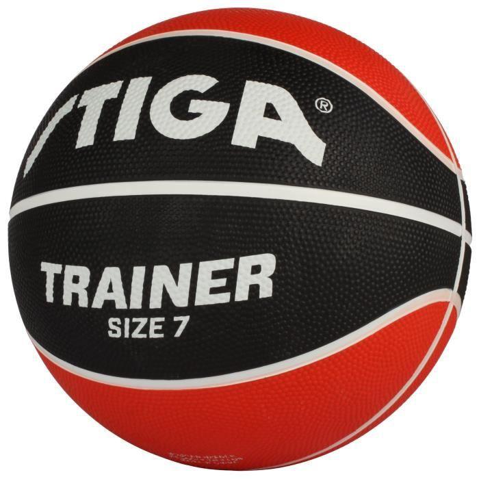 STIGA Ballon de basket-ball Trainer - Rouge et noir - Taille 7