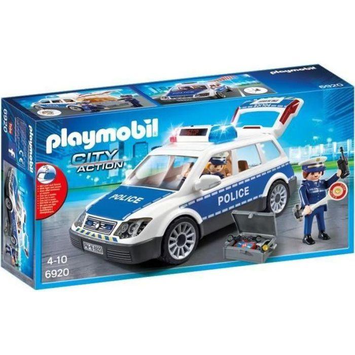 PLAYMOBIL 6920 - City Action - Voiture de Police avec Gyrophare et Sirène