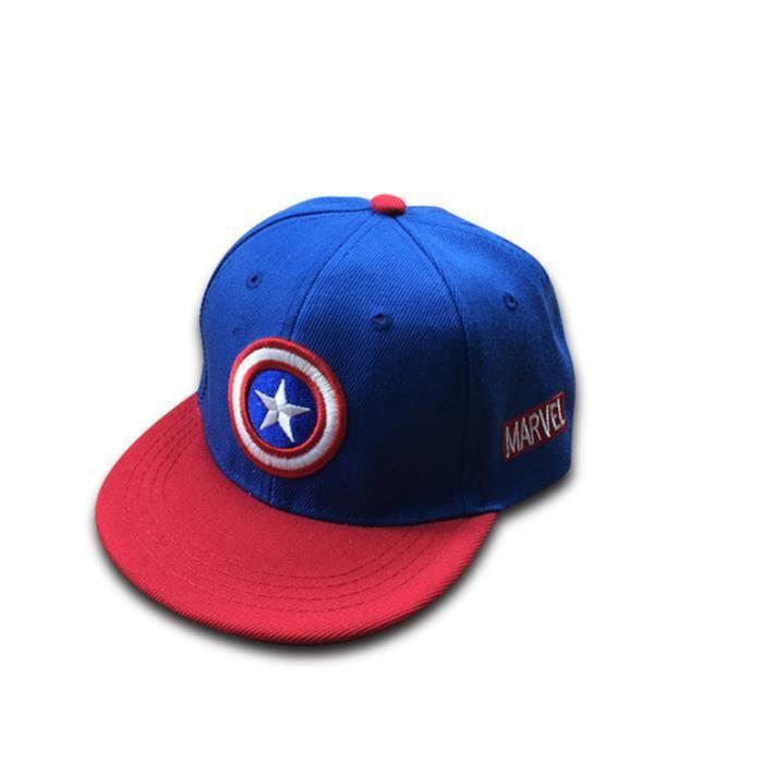 f41540f8292 Casquette Bébé Casquette de Baseball Chapeau Hip-hop Captain American Bleu