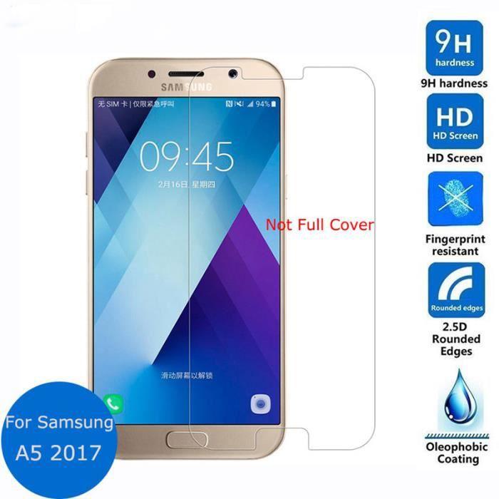 2d1b85575276ae Film de protection ultra mince explosion preuve protecteur d écran en verre  trempé 9H 2.5D pour Samsung Galaxy A5 2017 A520F A520