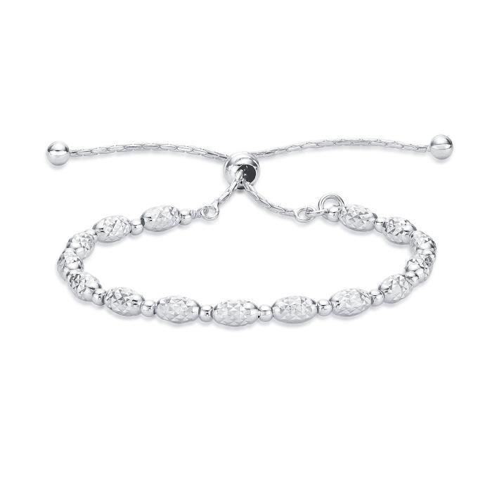 b47243c2400f Diamond Treats Bracelet fashion perles de rocaille femme en argent massif  925