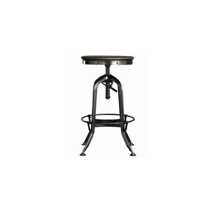 tabouret industriel acier achat vente tabouret. Black Bedroom Furniture Sets. Home Design Ideas