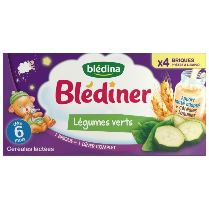 PURÉES DE LÉGUMES BLEDINA Blédîner Lait aux céréales et aux Légumes