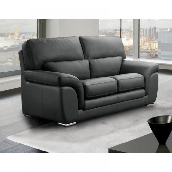 canape cuir 2 places gris achat vente canape cuir 2 places gris pas cher cyber monday le. Black Bedroom Furniture Sets. Home Design Ideas