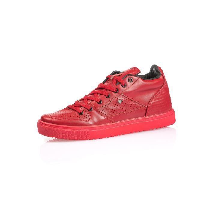 Basket basse rouge homme fashion
