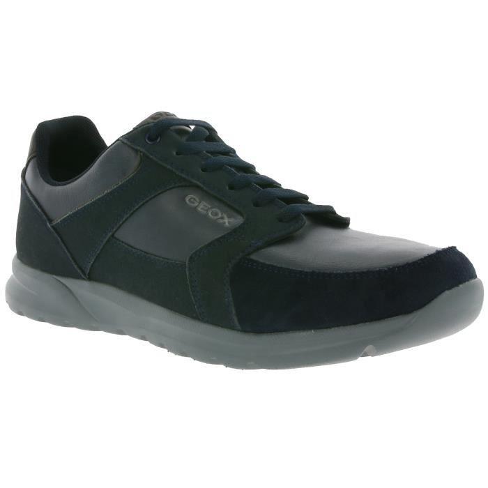 GEOX U ERAST B Véritable sneaker en cuir pour hommes Bleu U743EB 0AU54 C4002 cbho2tSX