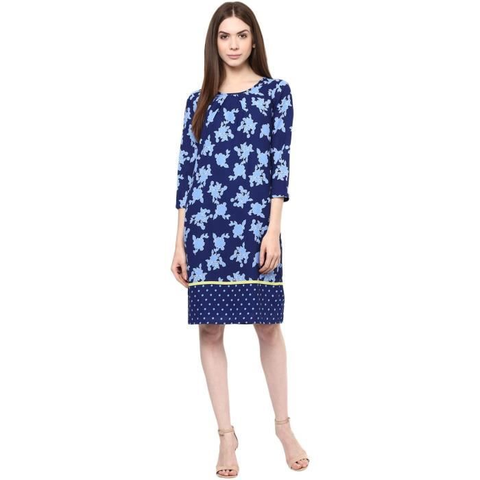 Womens Printed Dress ZD0LC Taille-36