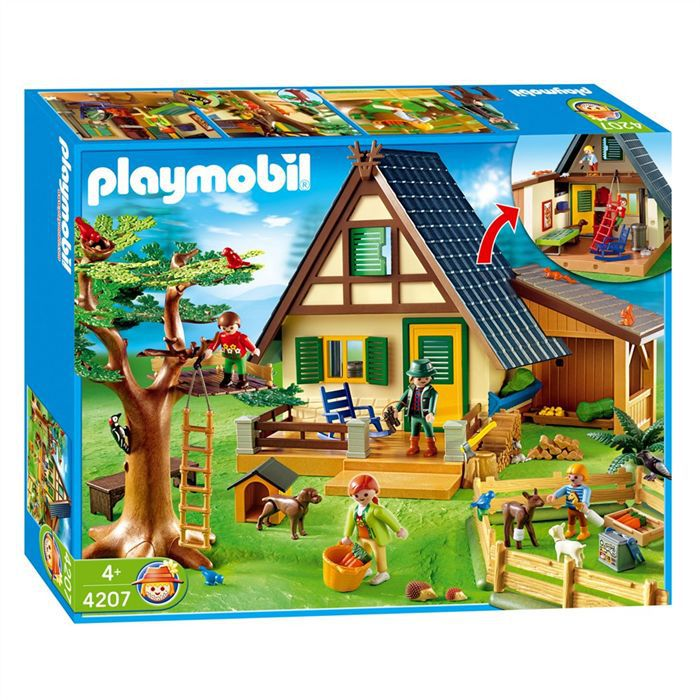 playmobil 4207 famille animaux maison achat vente. Black Bedroom Furniture Sets. Home Design Ideas
