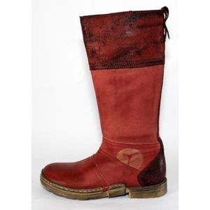 T 31 CHAUSSURES FILLE ROUGE NEUVES CUIR BOTTES x5XIqd1wc