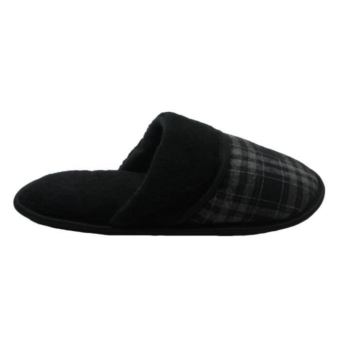 Micro-suede Or Plaid Upper Scuff House Slipper TDJIT Taille-42