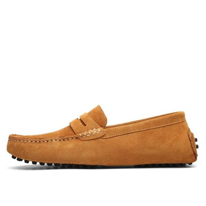 Moccasins hommes marque de luxe chaussures 2017 Nouvelle Mode ete Respirant Loafers chaussure hommes Grande Taille 38-45