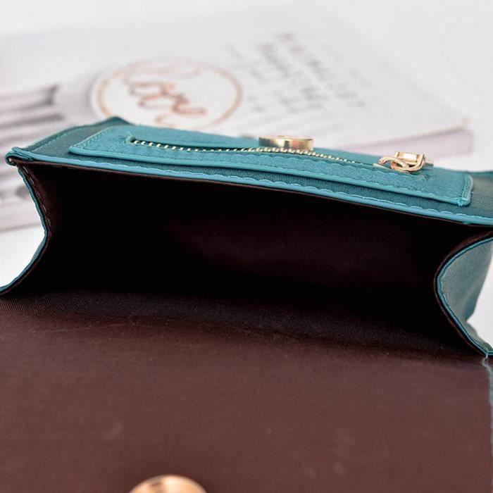 Femmes Mode Ruban Sac à bandoulière chaîne sac à bandoulière Messenger Bag Purse V050B